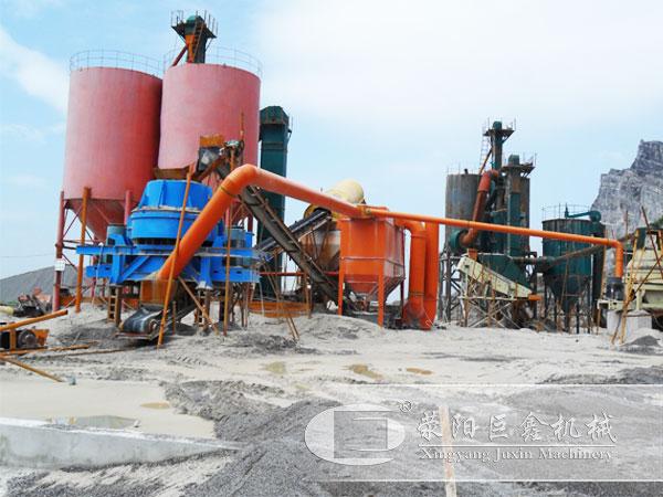 时产100-200吨玄武岩制沙生产线案例