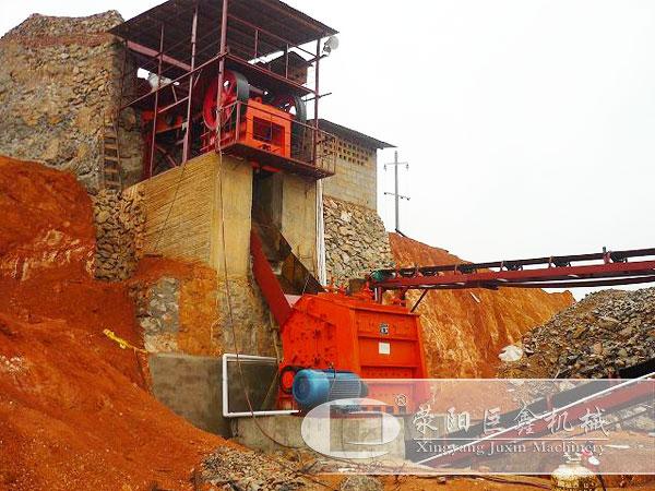 湖南时产500吨石灰石石料生产线客户现场