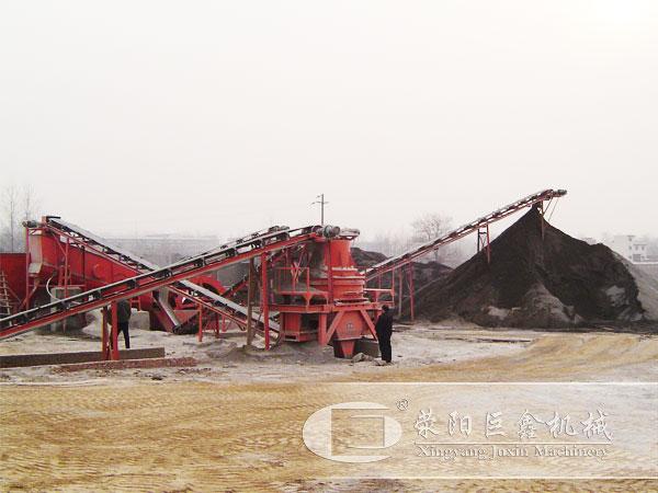 郑州时产100吨机制沙生产线案例