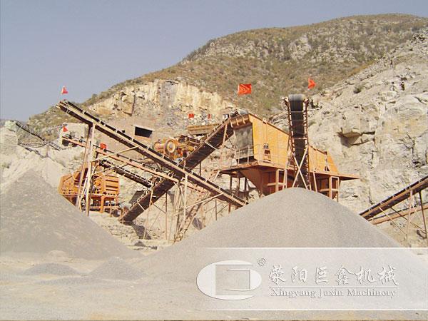 沙石生产线生产中图片
