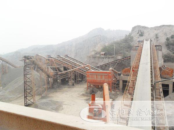 大型石料生产线客户现场图