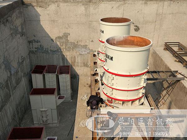 干粉砂浆制砂机安装现场